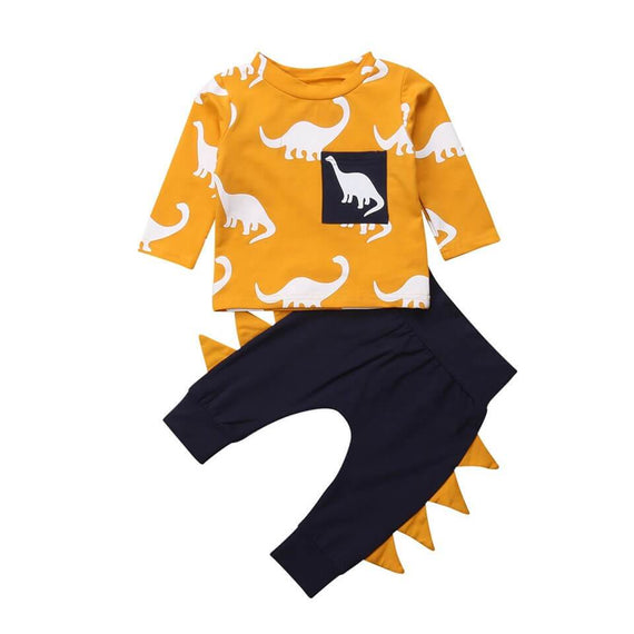 Dino Mustard Set - The Trendy Toddlers