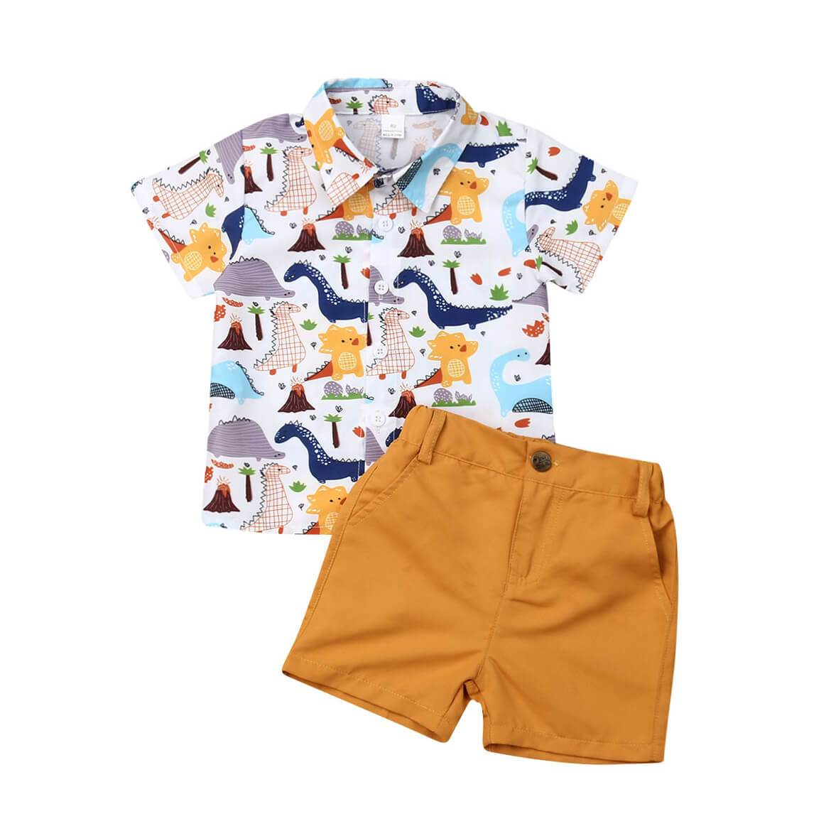 Dinosaurs Shirt Set - The Trendy Toddlers