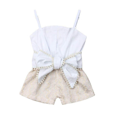 Straps Bow Romper - The Trendy Toddlers