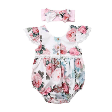 Vintage Floral Romper - The Trendy Toddlers