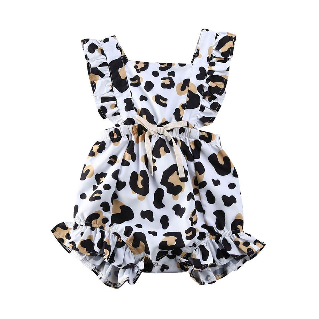 Leopard Ruffled Romper - The Trendy Toddlers