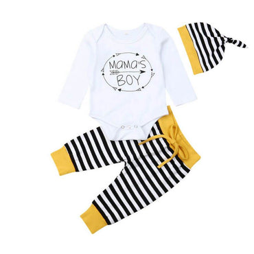 Mama's Boy Striped Set - The Trendy Toddlers