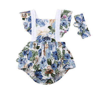 Blue Ruffles Romper - The Trendy Toddlers