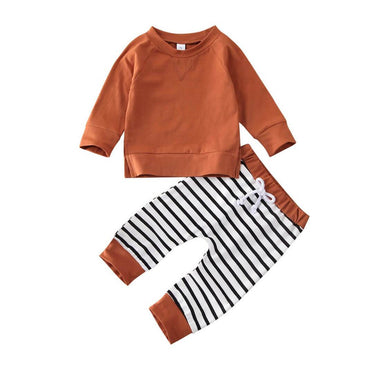 Brown Striped Set - The Trendy Toddlers