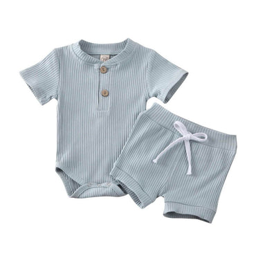 Ribbed Button Set - The Trendy Toddlers