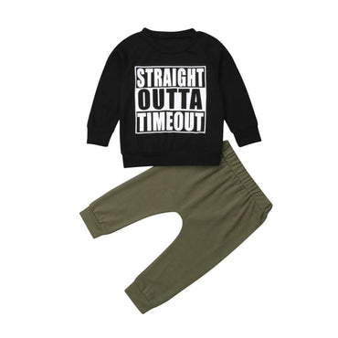 Straight Outta Timeout Set - The Trendy Toddlers