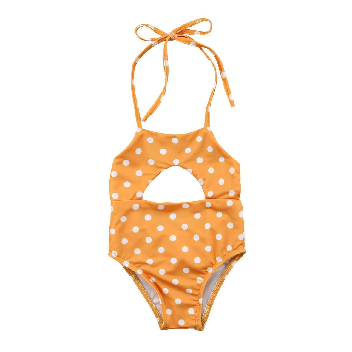 Polka Dot Yellow Swimsuit - The Trendy Toddlers