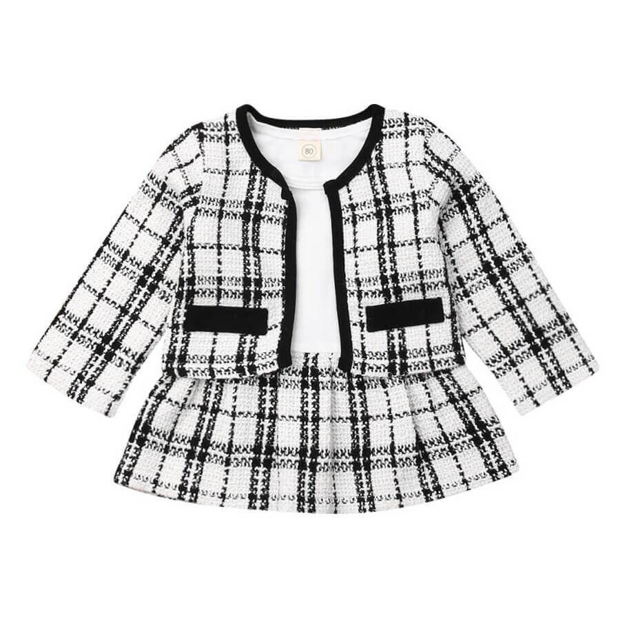 Plaid Blazer Set - The Trendy Toddlers