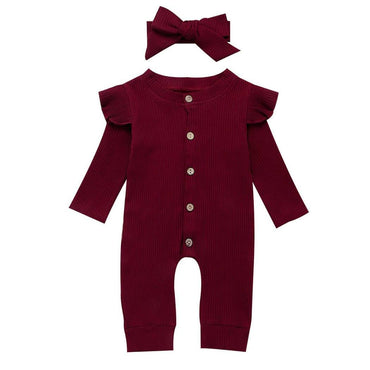 Flutter Button Jumpsuit - The Trendy Toddlers