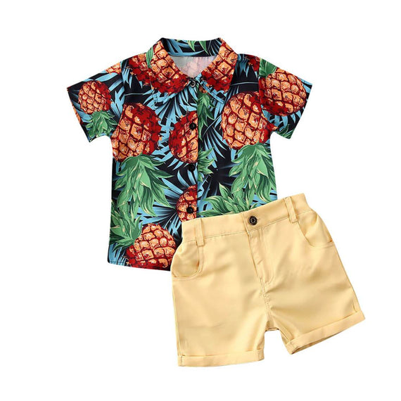 Pineapple Gentleman Set - The Trendy Toddlers