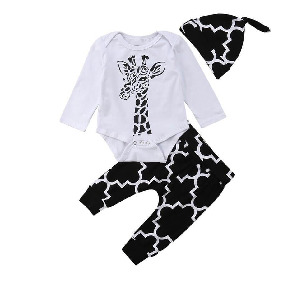 Giraffe Black and White Set - The Trendy Toddlers