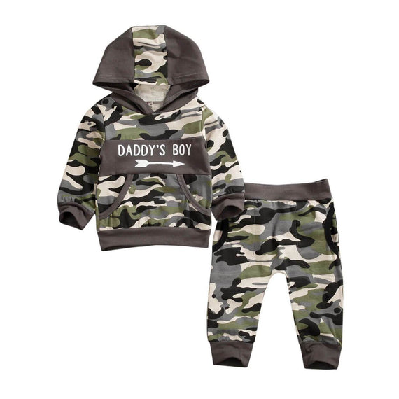 Daddy's Boy Camo Set - The Trendy Toddlers