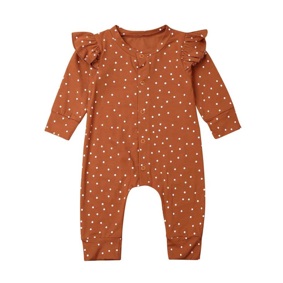 Brown Dots Jumpsuit - The Trendy Toddlers