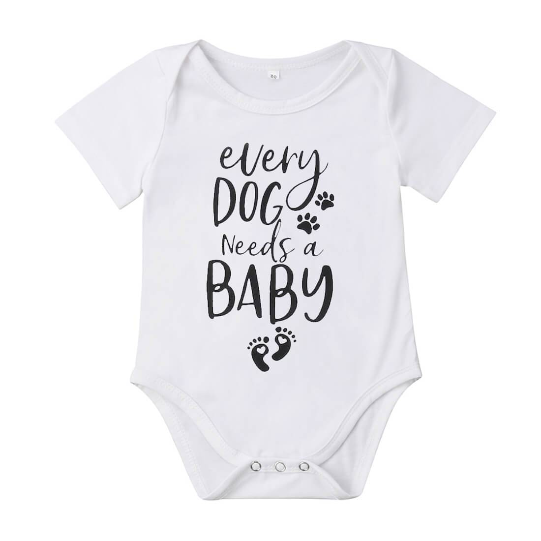 Baby Dog Bodysuit - The Trendy Toddlers