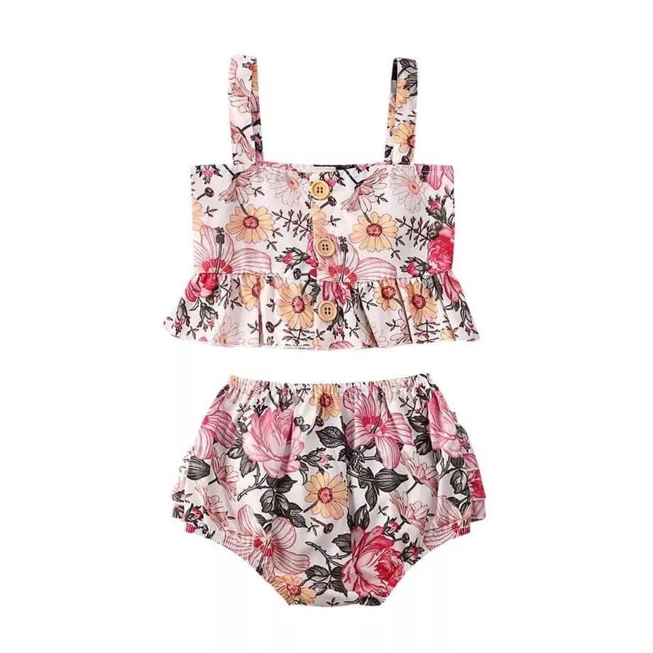 Summer Floral Set - The Trendy Toddlers