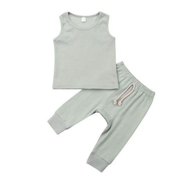 Solid Tank Set - The Trendy Toddlers
