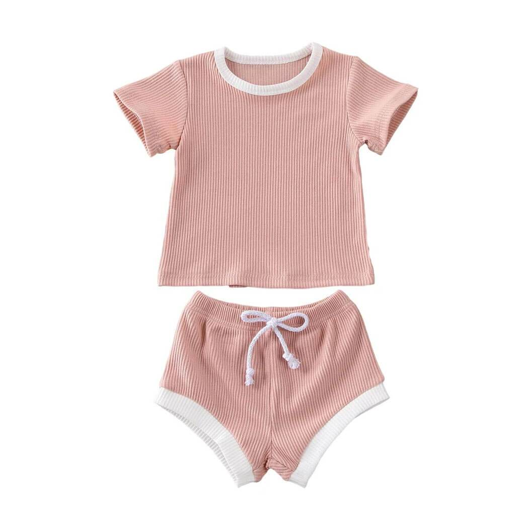 Ribbed Solid Set - The Trendy Toddlers