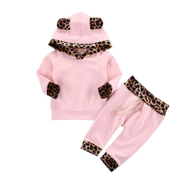 Leopard Ears Pink Set - The Trendy Toddlers