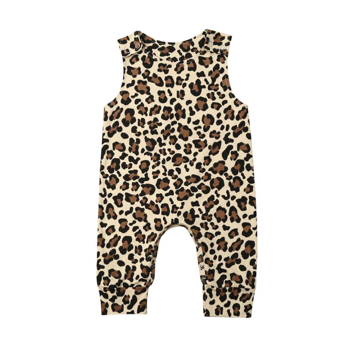 Leopard Sleeveless Jumpsuit - The Trendy Toddlers