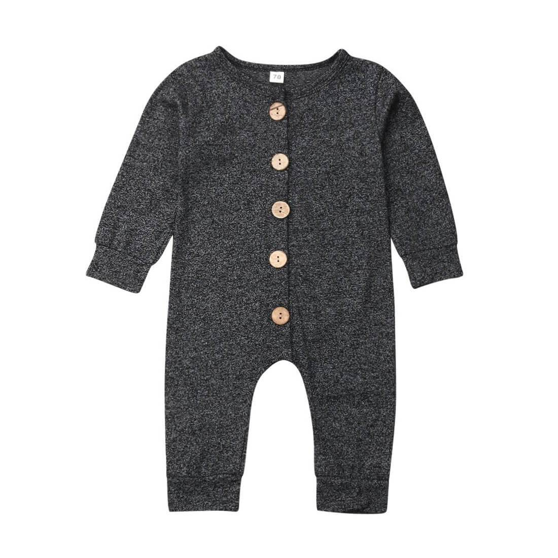 Long Sleeve Buttoned Jumpsuit - The Trendy Toddlers
