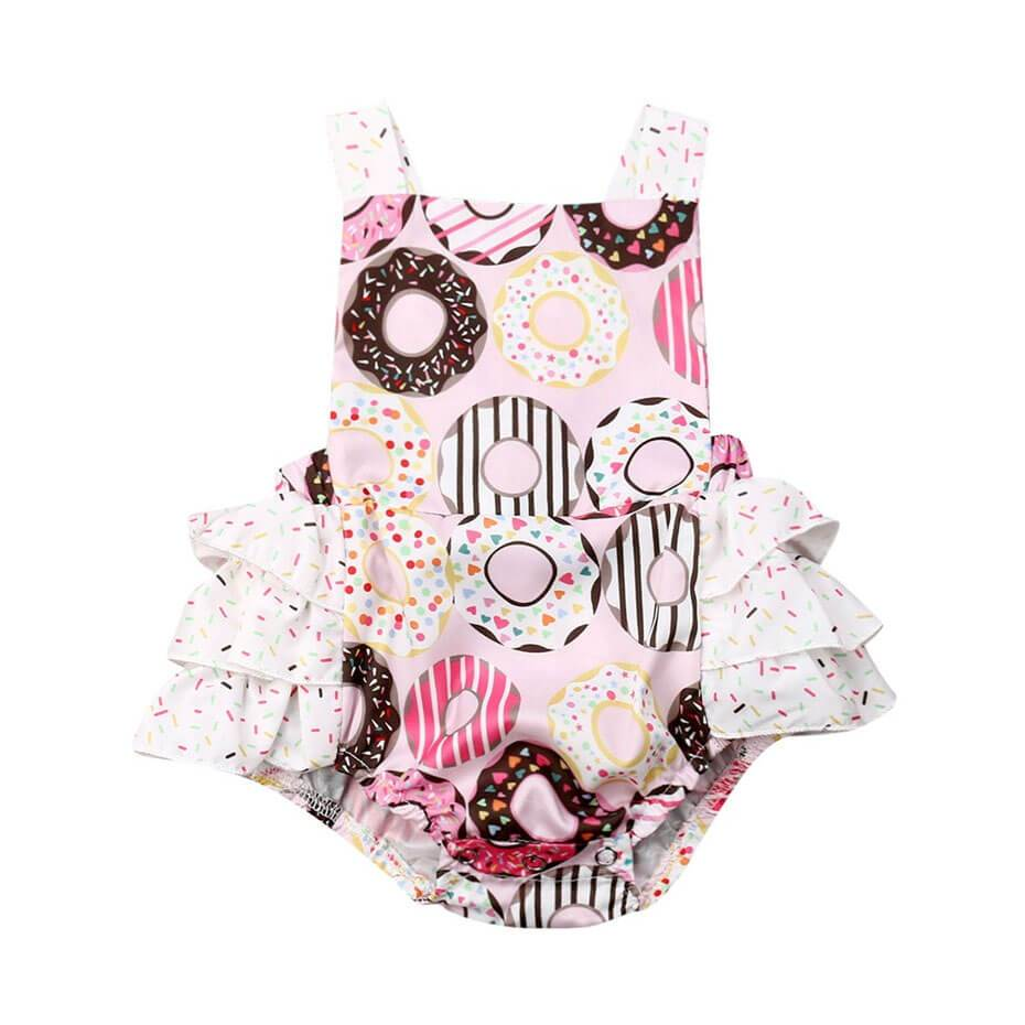Ruffled Donuts Romper - The Trendy Toddlers