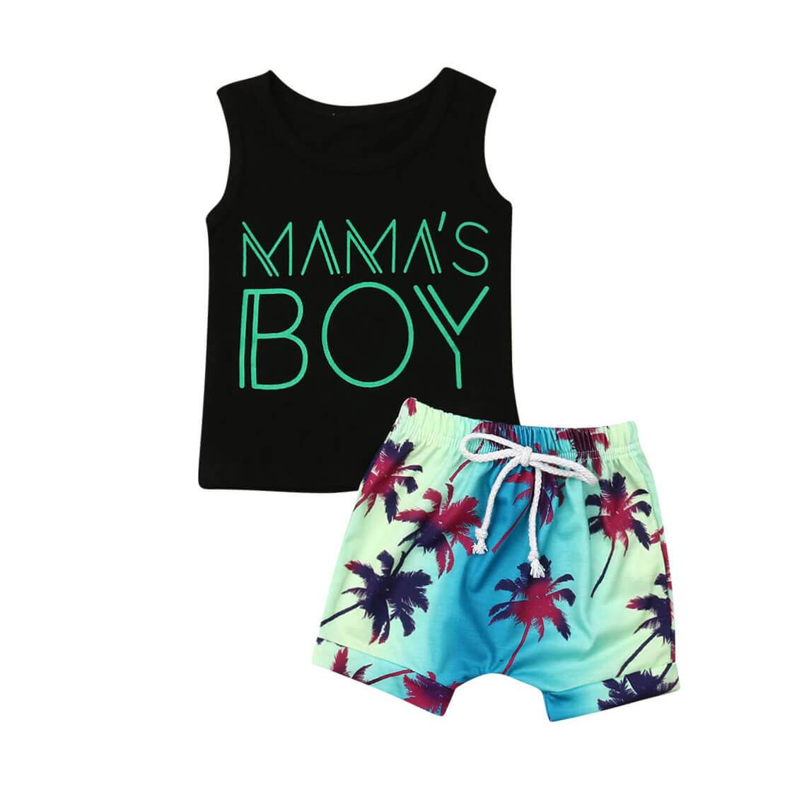 Mama's Boy Tropical Set - The Trendy Toddlers