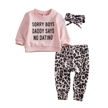 No Dating Leopard Set - The Trendy Toddlers