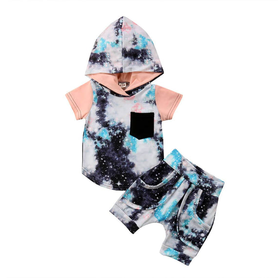 Galaxy Hooded Set - The Trendy Toddlers