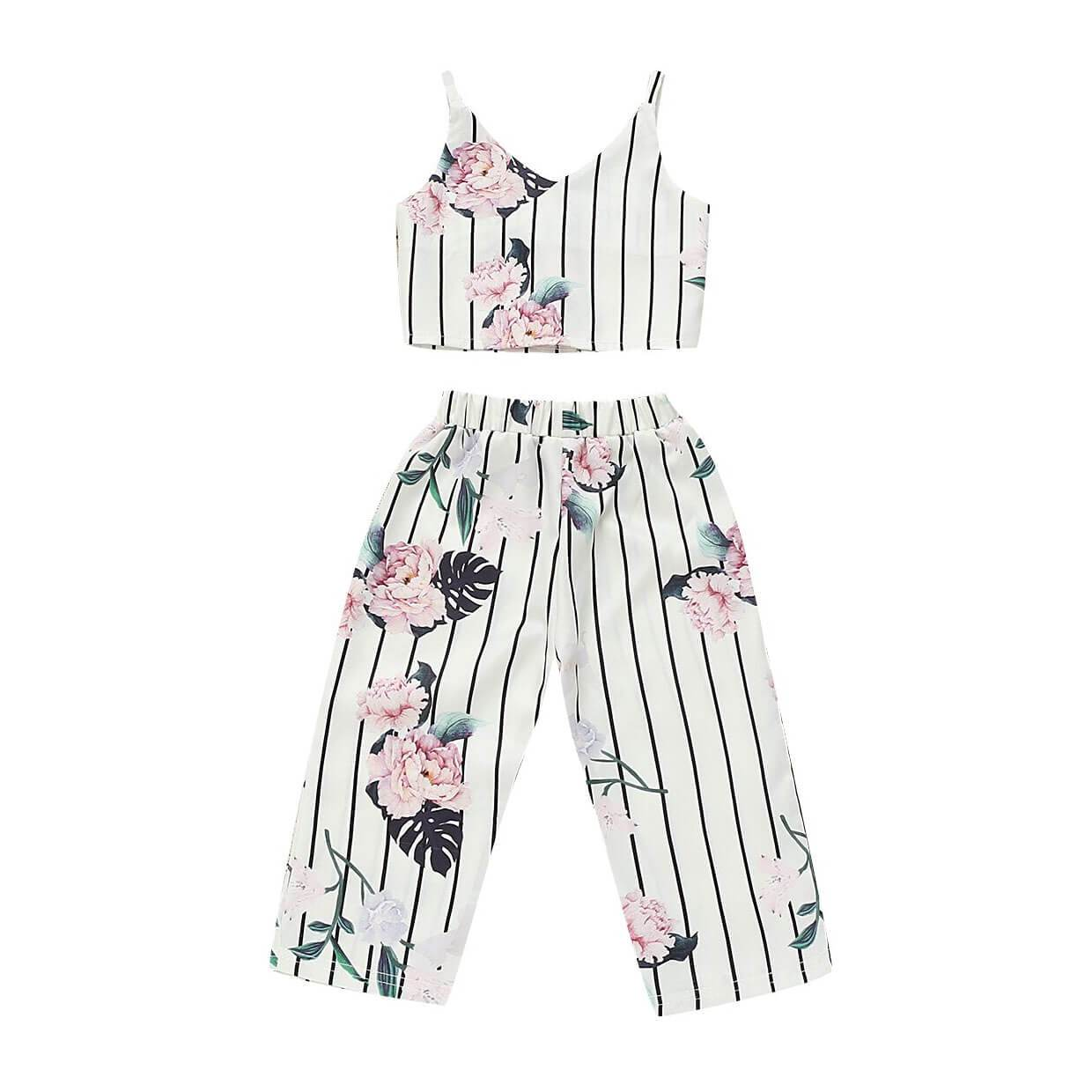 Striped Floral Set - The Trendy Toddlers