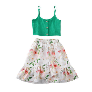 Green Floral Boho Set - The Trendy Toddlers