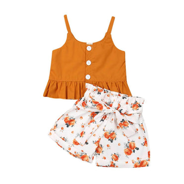 Floral Orange Set - The Trendy Toddlers
