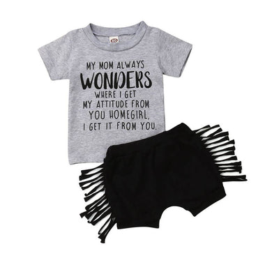 Homegirl Tassel Set - The Trendy Toddlers