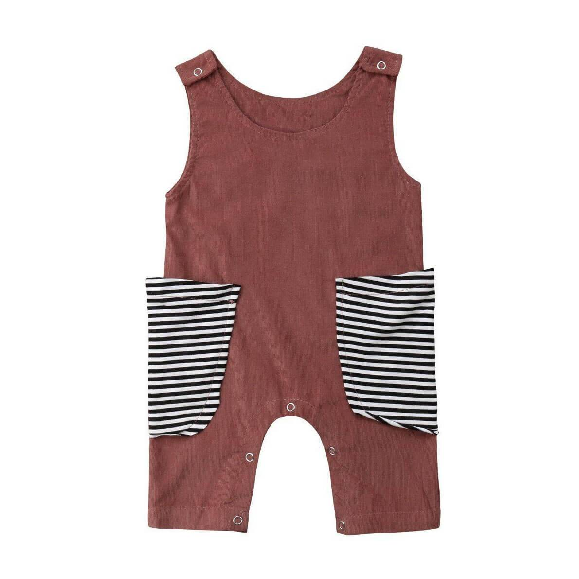 Striped Pocket Jumpsuit - The Trendy Toddlers