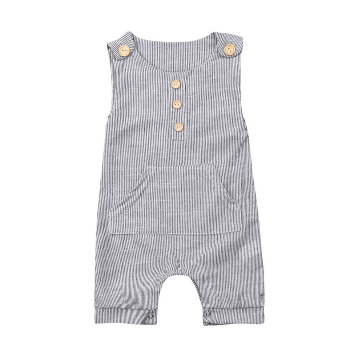 Sleeveless Stripes Jumpsuit - The Trendy Toddlers