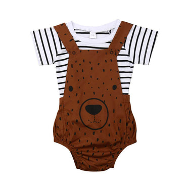 Striped Bear Set - The Trendy Toddlers