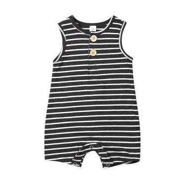 Sleeveless Striped Romper - The Trendy Toddlers