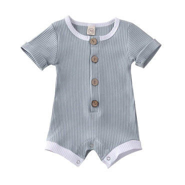 Ribbed Button Romper - The Trendy Toddlers
