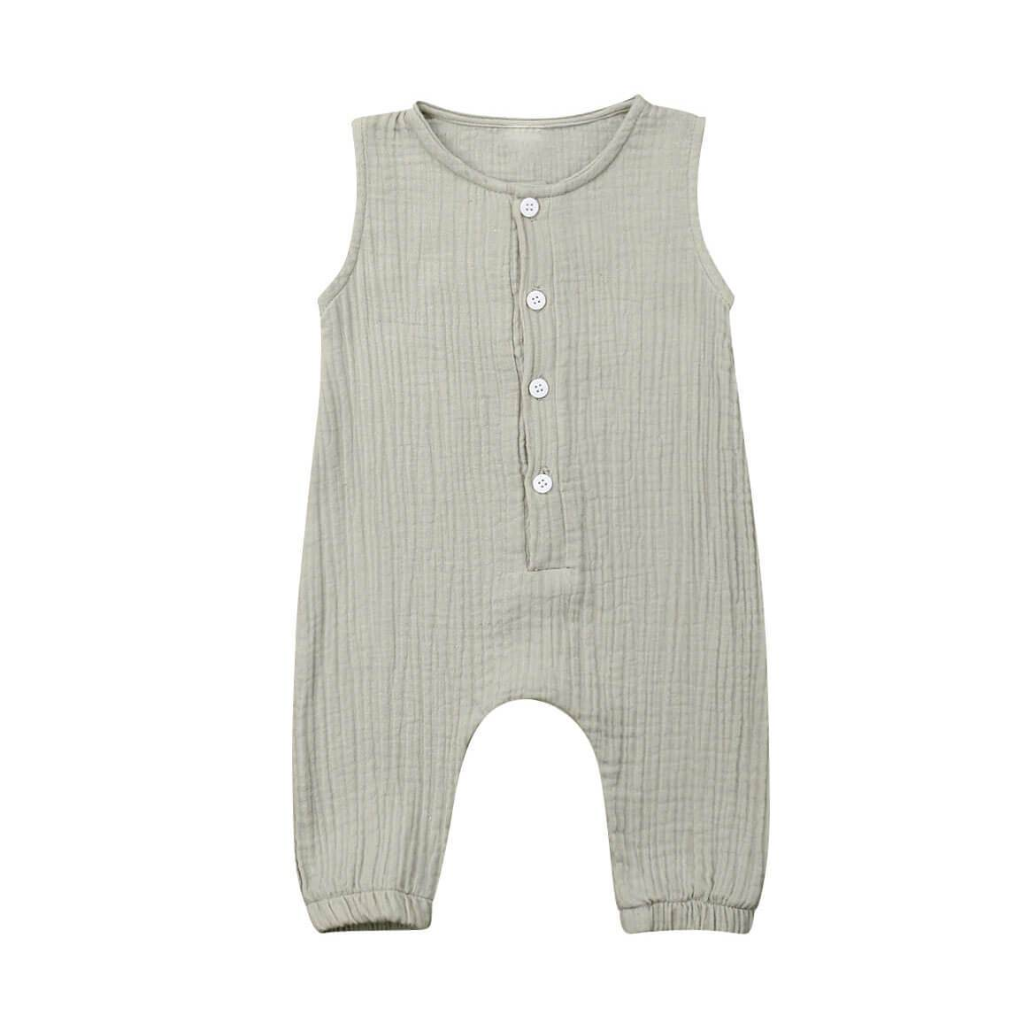 Solid Sleeveless Jumpsuit - The Trendy Toddlers