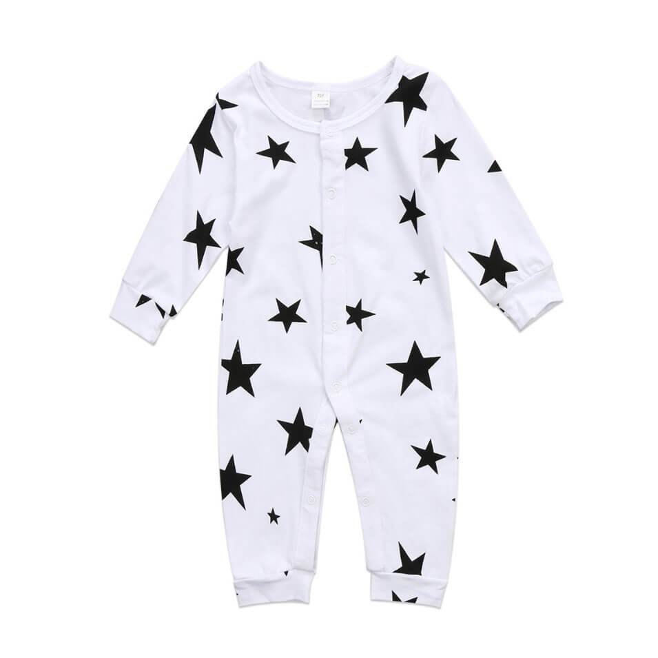 Long Sleeve Star Jumpsuit - The Trendy Toddlers