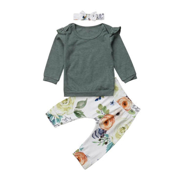 Floral Ruffled Set - The Trendy Toddlers