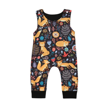 Floral Fox Jumpsuit - The Trendy Toddlers