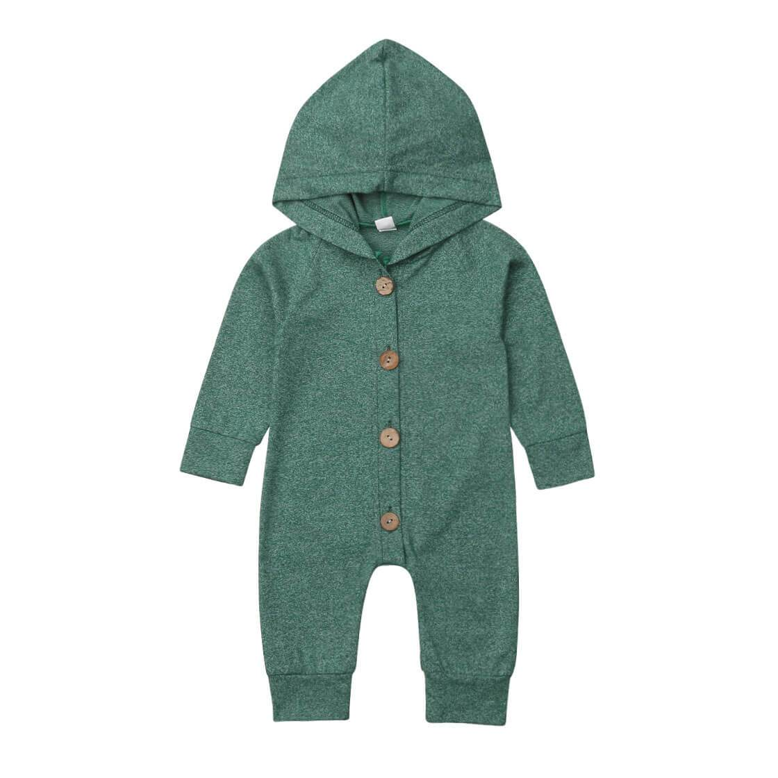 Green Hooded Jumpsuit - The Trendy Toddlers