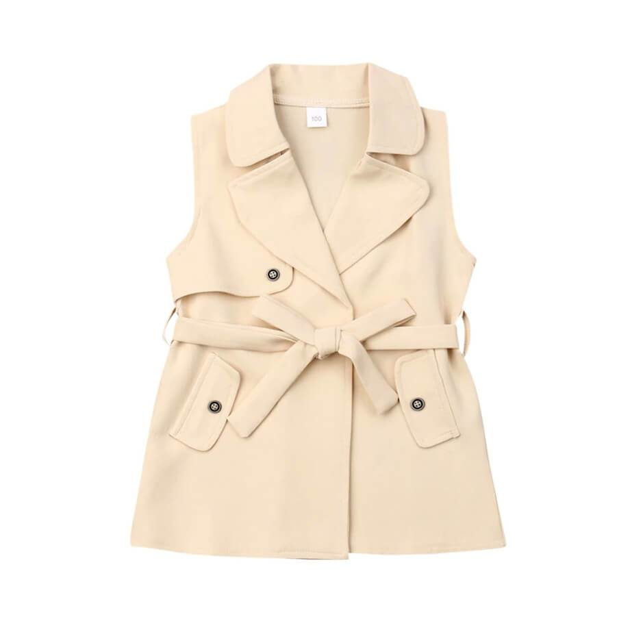 Sleeveless Trench Jacket - The Trendy Toddlers