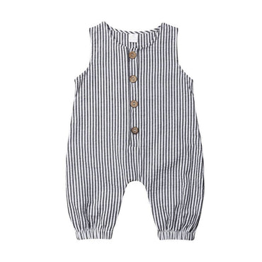 Striped Sleeveless Jumpsuit - The Trendy Toddlers