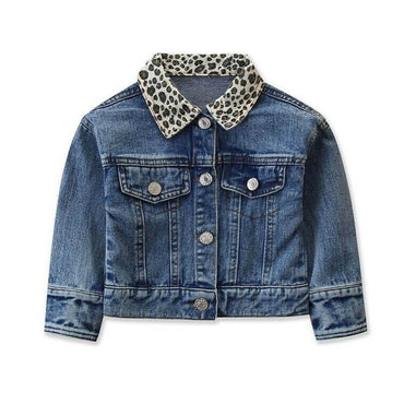 Leopard Denim Jacket - The Trendy Toddlers
