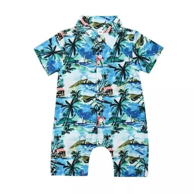Hawaiian Romper - The Trendy Toddlers