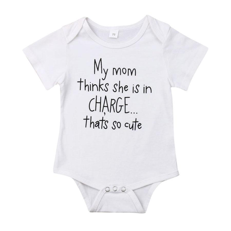 My Mom Is In Charge Bodysuit - The Trendy Toddlers