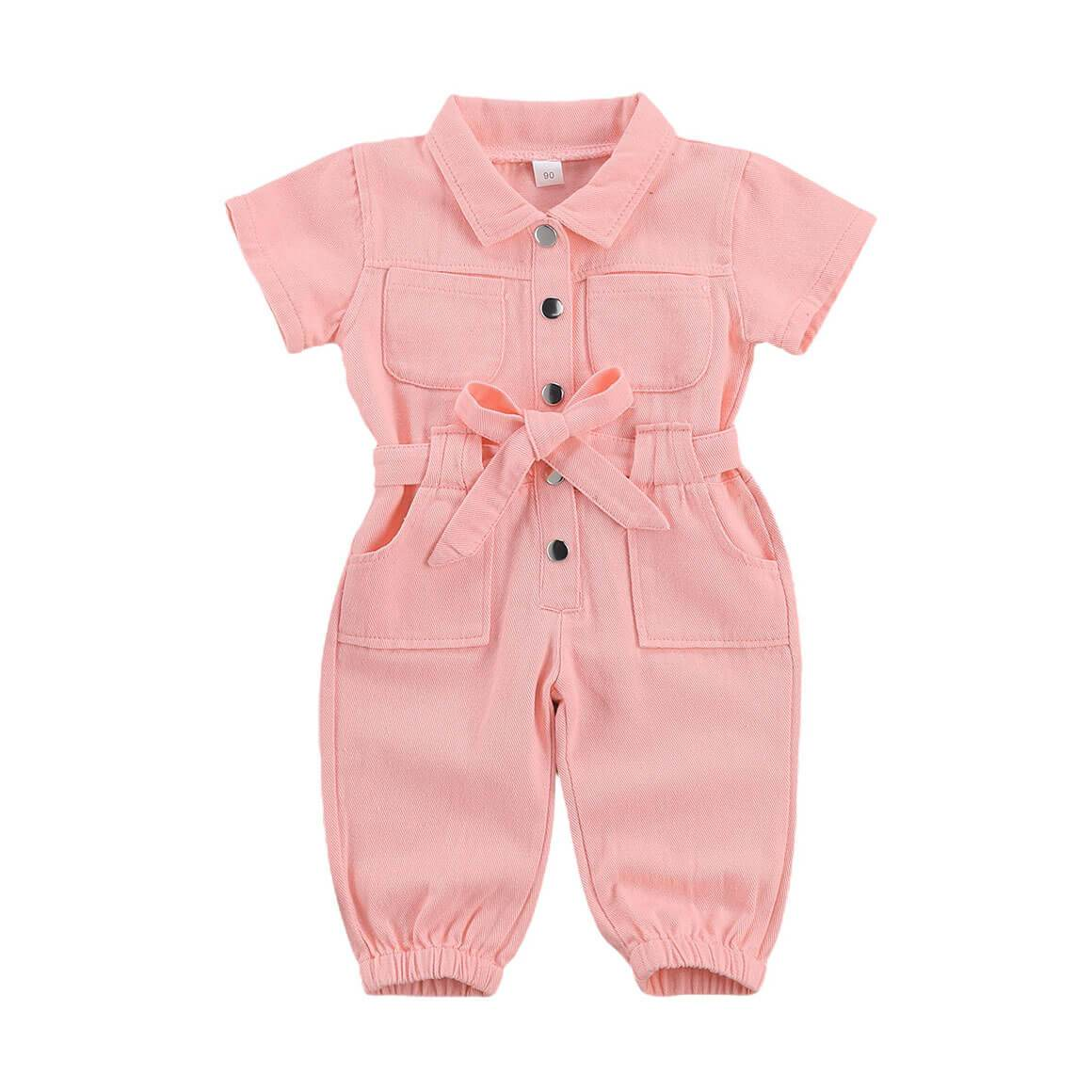 Pink Collar Jumpsuit