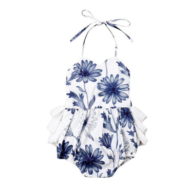 Straps Ruffled Floral Romper - The Trendy Toddlers