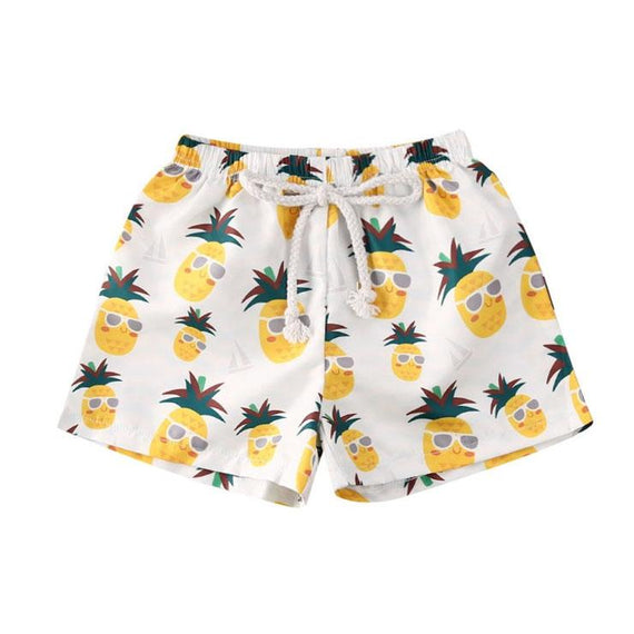 Pineapple Beach Shorts - The Trendy Toddlers